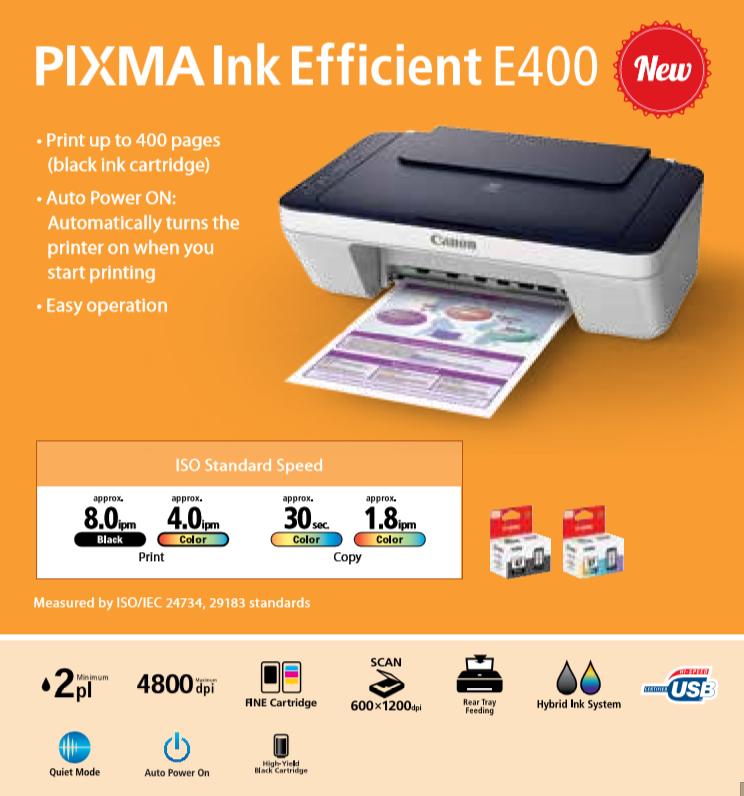 Jual Tinta Service Printer Canon Pixma E400 Ink Efficient