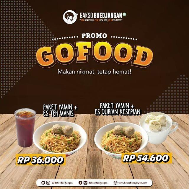 #BaksoBoedjangan - #Promo Makan Nikmat Tetep Hemat Pakai #GOFOOD (s.d 31 Jan 2019)