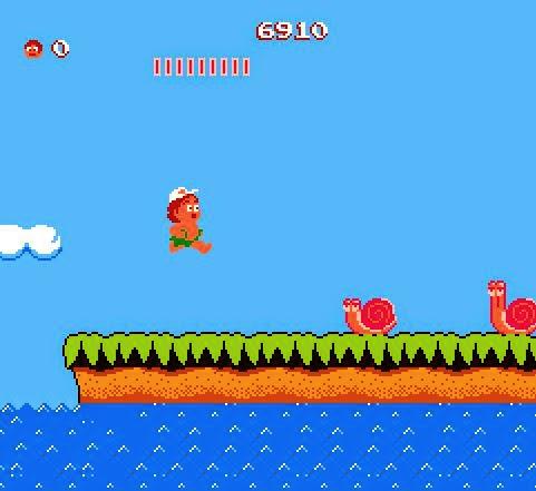 Captura de pantalla Adventure Island, Nintendo, 1986