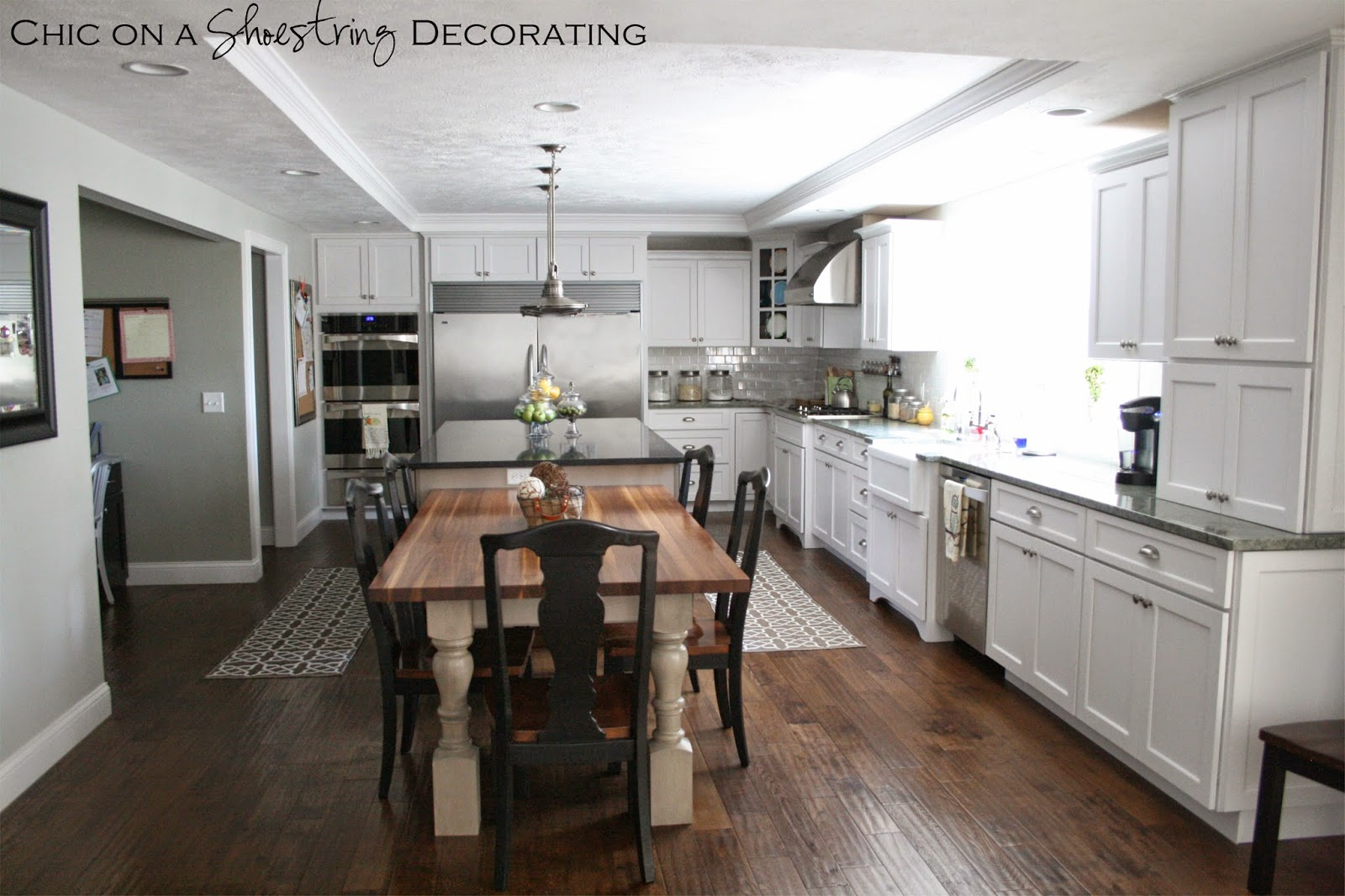 kitchen makeover by Chic on a Shoestring Decorating blog