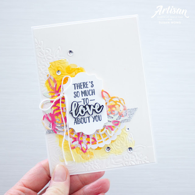 Abstract Impressions with Embossing Mats by Stampin' Up! - Susan Wong