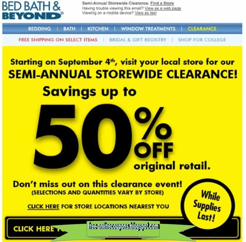 Coupon code for bed bath and beyond