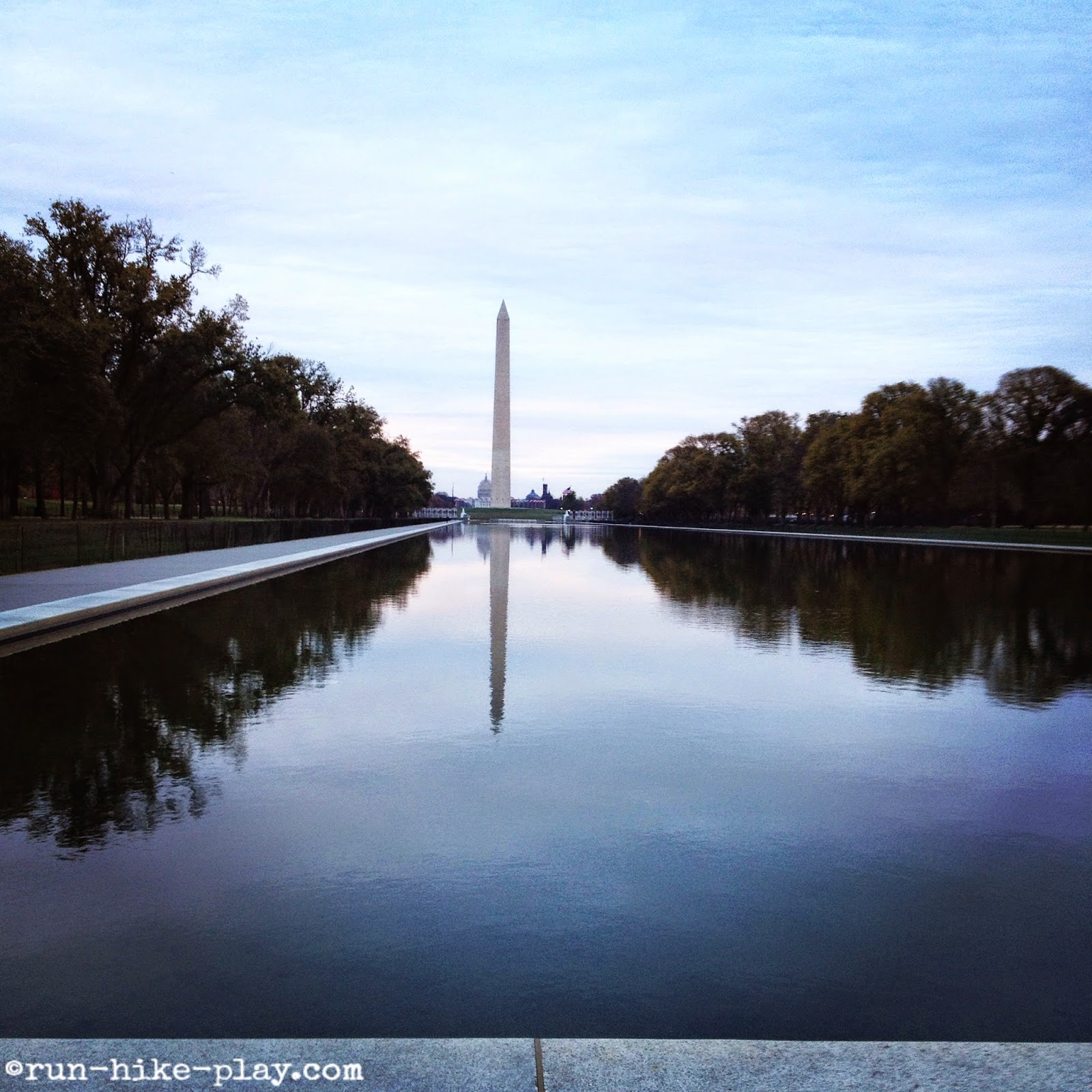Washington Monument with reflecting pool