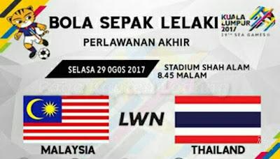 Live Streamung Malaysia vs Thailand Sukan SEA 29.8.17