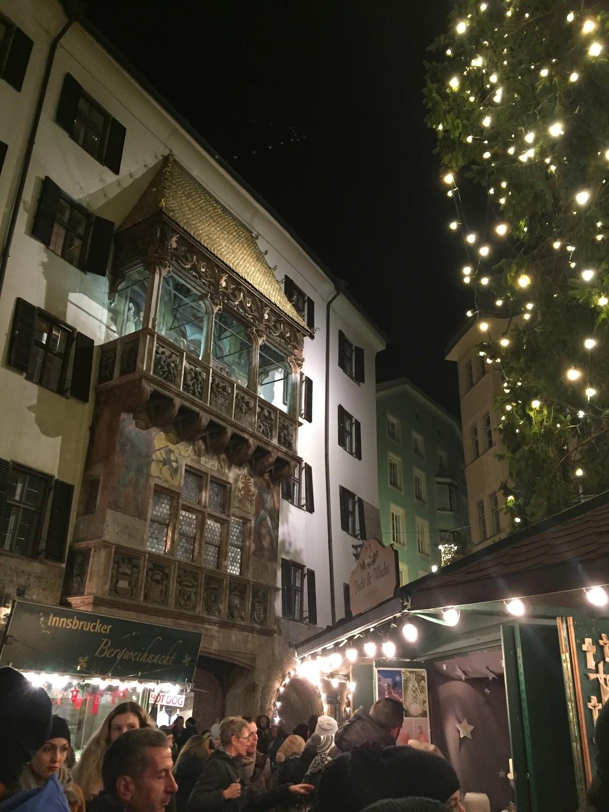 Goldenes Dachl Innsbruck Christmas Market
