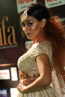Apoorva Spicy Pics in Cream Deep Neck Choli Ghagra WOW at IIFA Utsavam Awards 2017 58.JPG