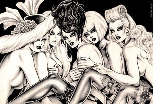 Dark Divas les pin-up de Nik Guerra ont un style atypique