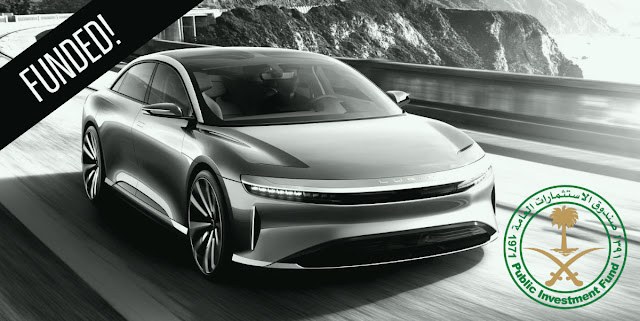 Lucid Motors secures US$ 1 Bn Investment from Saudi Arabia's PIF