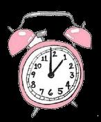 Relógio despertador rosa em png