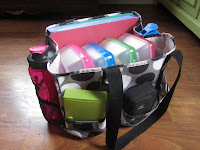 Co-op Morning Organization with a color-coded supply bag {The Unlikely Homeschool}