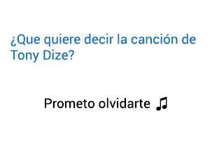 Significado de la canción Prometo Olvidarte Tony Dize.