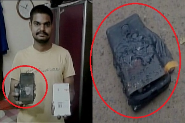 Andhra Pradesh: A Chinese branded mobile phone burst into flames when kept in pocket of the owner in East Godavari district