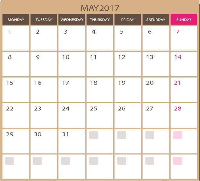 Blank Calendar Svg : May blank calendar vector template calendars