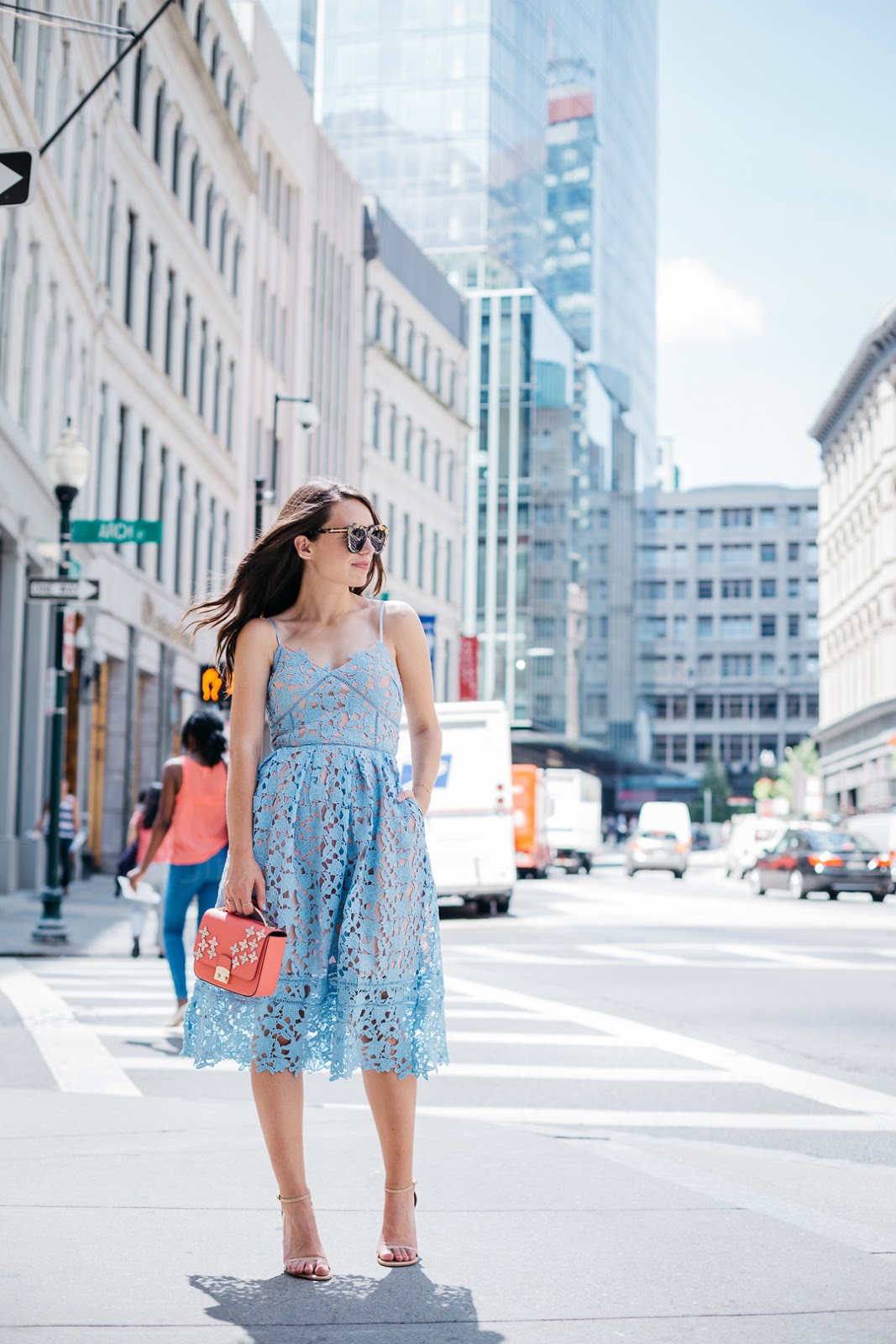 Event this summer? You need this pastel blue midi dress from SheIn