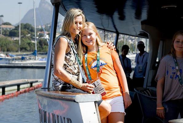 King Willem-Alexander, Queen Maxima, Crown Princess Catharina-Amalia, Princess Alexia and Princess Ariana  in Rio de Janeiro for Olympic Games.