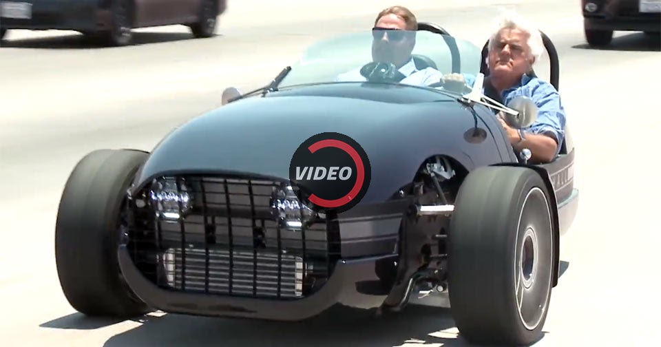 vanderhall venice rolls into jay leno u0026 39 s garage on three wheels