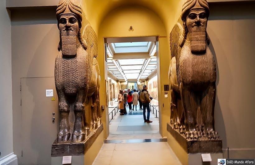 Seção egípcia no British Museum em Londres