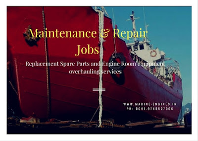Engine Room Repair, maintenance, Overhauling, Ship main Engine, Auxiliary engine repair, Deck Equipment Maintenance, Service Provider, Yard, Port, loactipon, at sight, on ship,