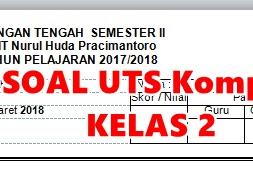SOAL UTS KOMPLIT SD/MI Kelas 2 Tahun Ajaran 2017/2018