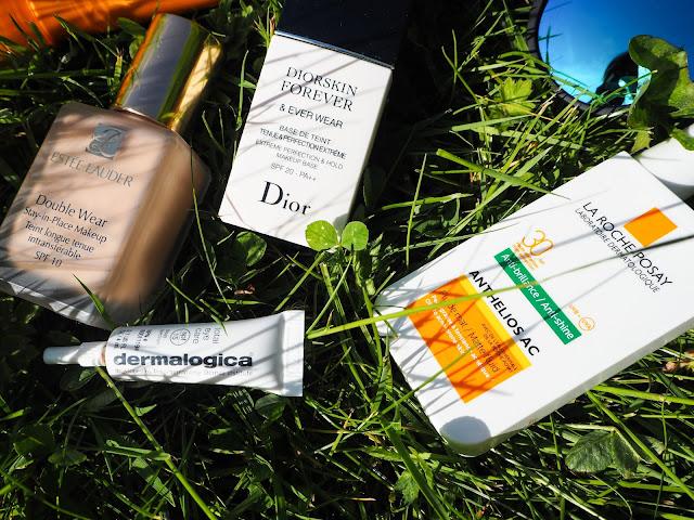 Estee Lauder, Dermalogica, La Roche Posay and Dior SPF