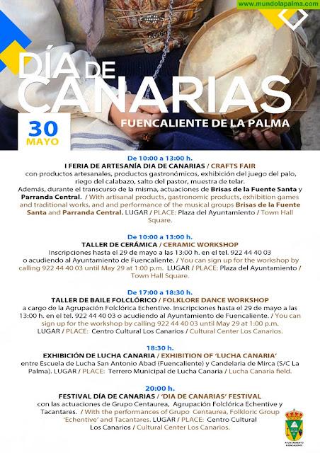 Fuencaliente celebra el Día de Canarias con talleres, lucha canaria, una feria de artesanía y buena música