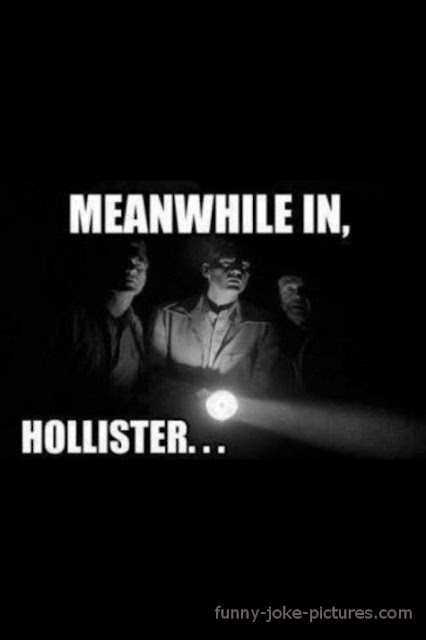 Meanwhile in Hollister Funny Caption Image