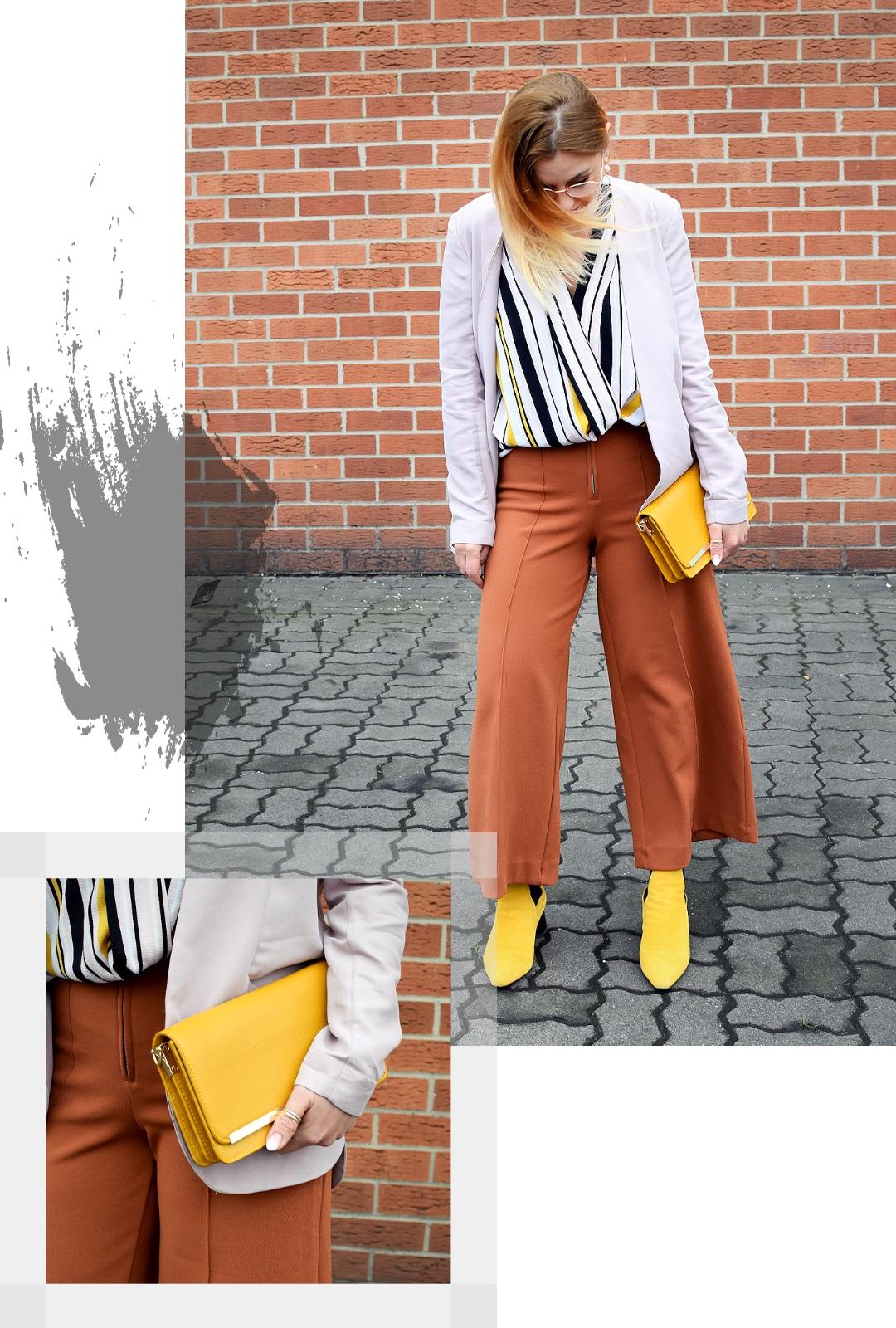 Wie kombiniere ich gelbe Accessoires | Gelbe Schuhe und gelbe Handtasche