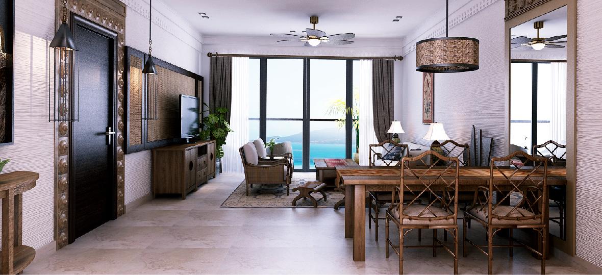 Thiết kế căn hộ Beau Rivage Trần Phú