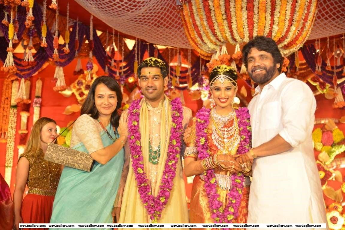 Nagarjuna and Amala were present at Swathi and Pranavs wedding