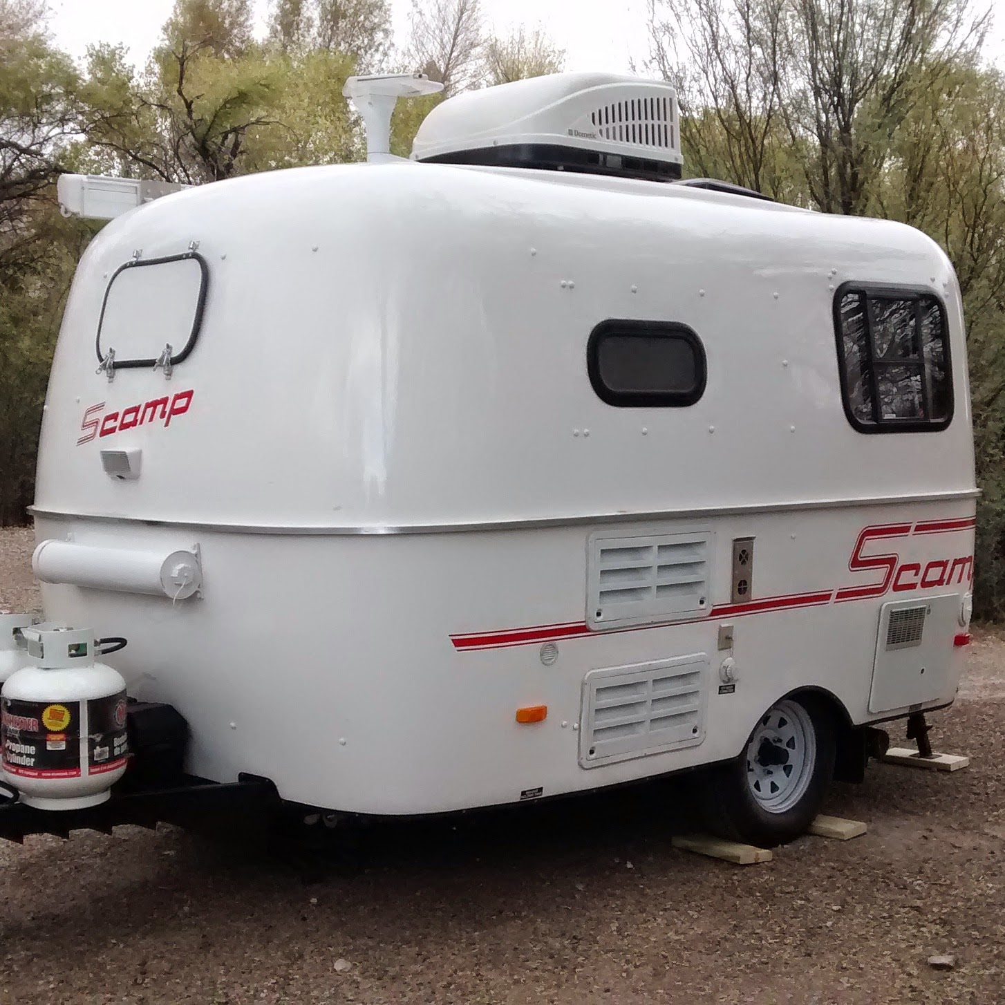 The Cynical Sailor His Salty Sidekick Meet Scamper Our 13 Scamp Travel Trailer Home