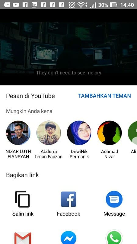 Bagikan Video Youtube