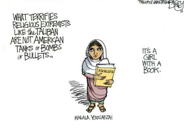 A Girl With A Book Religious Cartoon Picture