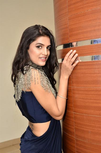 Ritu Biradar Hot Picture in Blue Saree
