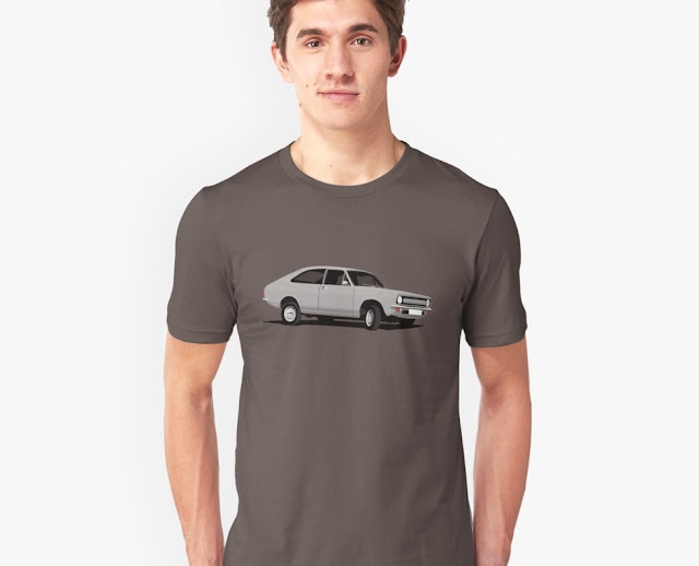 Morris Marina Coupé gray - vintage car t-shirt