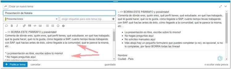 Tu presentación en Consultoría SAP