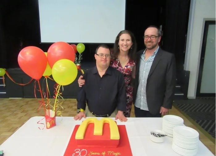 50-Year-Old McDonald's Worker With Down's Syndrome Retired After 32 Years