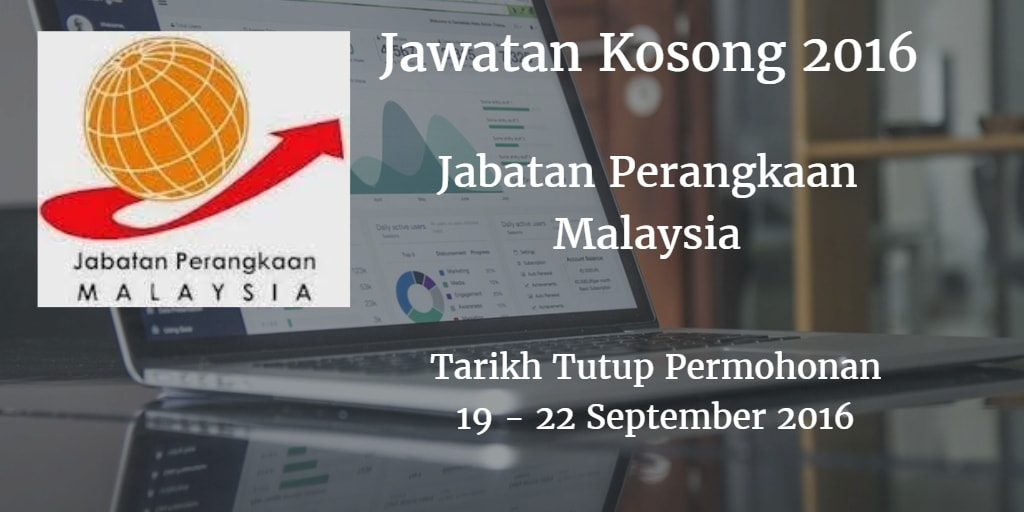 Jawatan Kosong Jabatan Perangkaan Malaysia 19 - 22 september 2016
