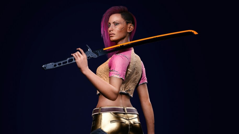 Cyberpunk 2077, V, Katana, Street Kid, Female, 8K, #3.2249