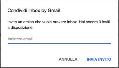 quanti inviti inbox mi sono rimasti