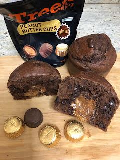 Intérieur des Moelleux au chocolat coeur de peanut butter cups, Treets