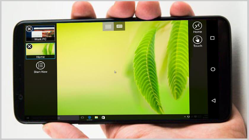 Microsoft remote desktop en android instalada