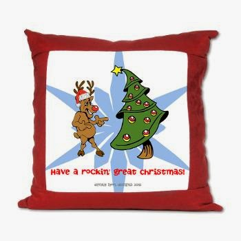 Rockin' Christmas Suede Pillow