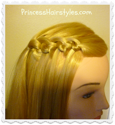 Flip knot waterfall feather braid video tutorial