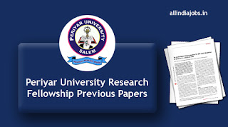 Periyar University Research Fellowship Previous Papers