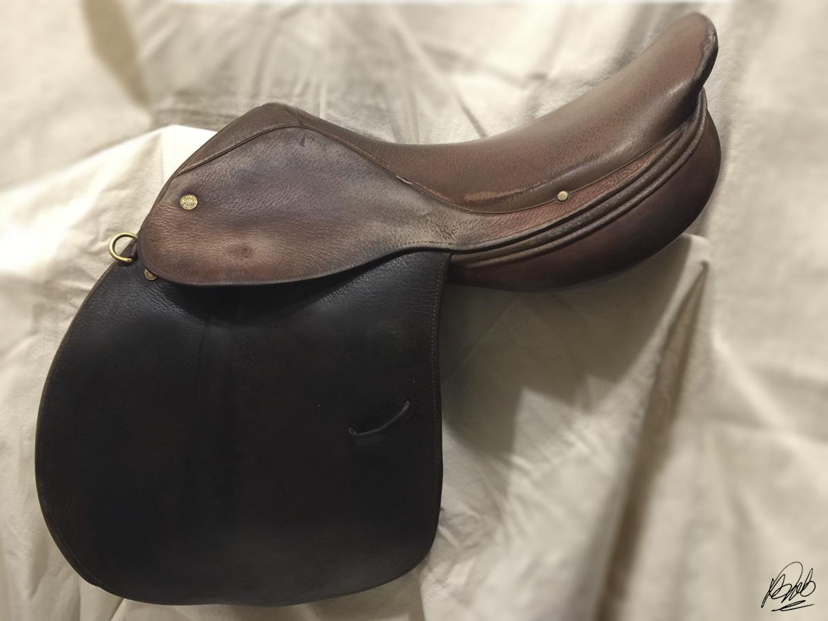 dyeing saddle leather black