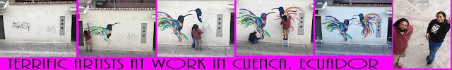 Artists at work in Cuenca Ecuador