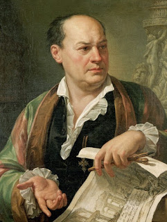 Pietro Labruzzi's portrait of Piranesi, thought to have been painted a year after his death
