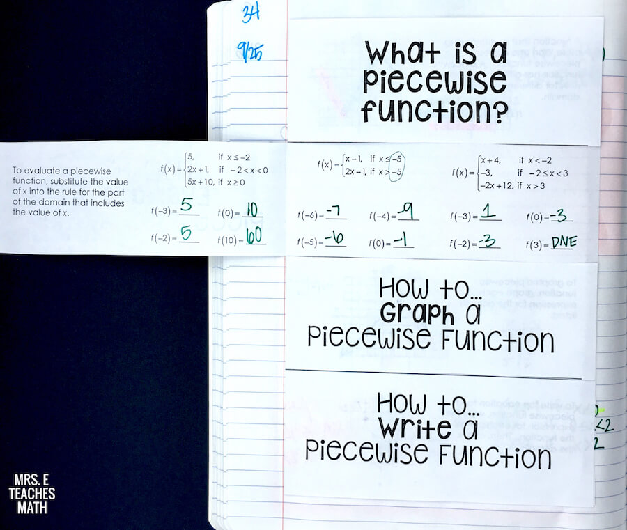 Apex Worksheet Answers Pdf Mrs E Teaches Math Bar Graph And Line Graph Worksheets with Subtraction To 10 Worksheets Excel This Piecewise Functions Foldable Was Great In My Students Interactive  Notebooks The Notes Were Clear Honors Algebra 2 Worksheets
