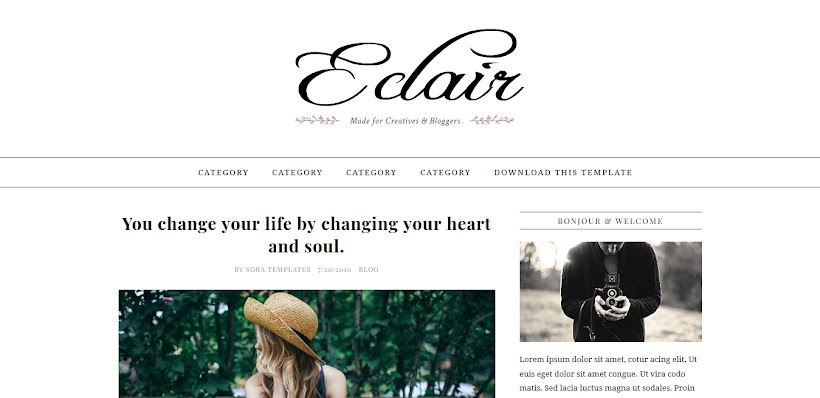 Eclair Free Blogger Template