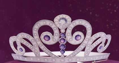 Sasaki time craft time sofia the first tiara and amulet for Sofia the first crown template